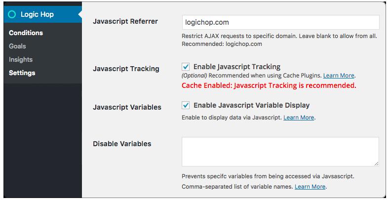 Javascript Tracking