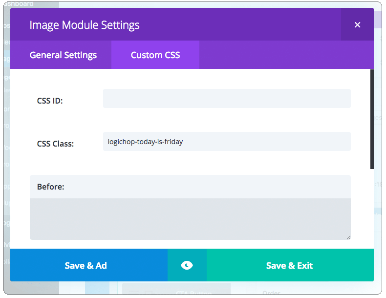 Conditional CSS Divi Builder
