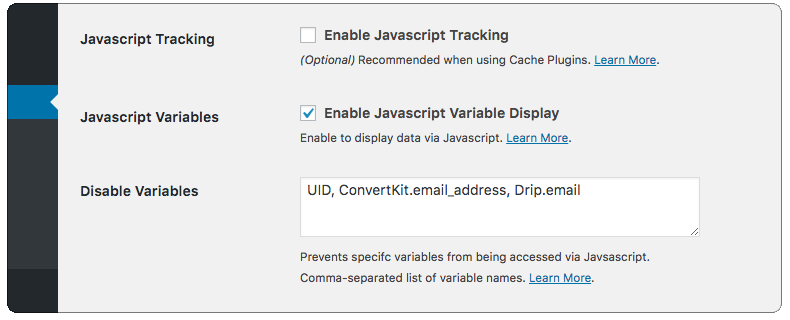 Enable Javascript Variable Display