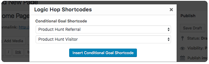 Custom Landing Page - Add Shortcode