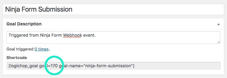 Ninja Forms Webhook Goal