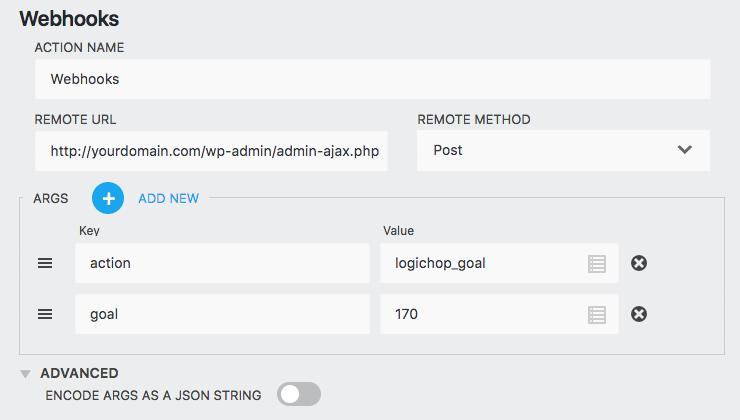 Ninja Forms Webhook Editor