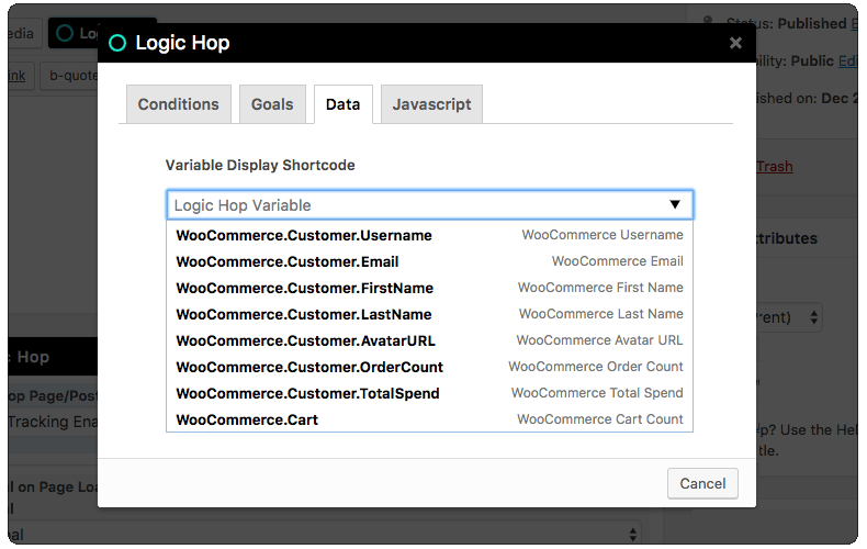 WooCommerce Data Shortcode