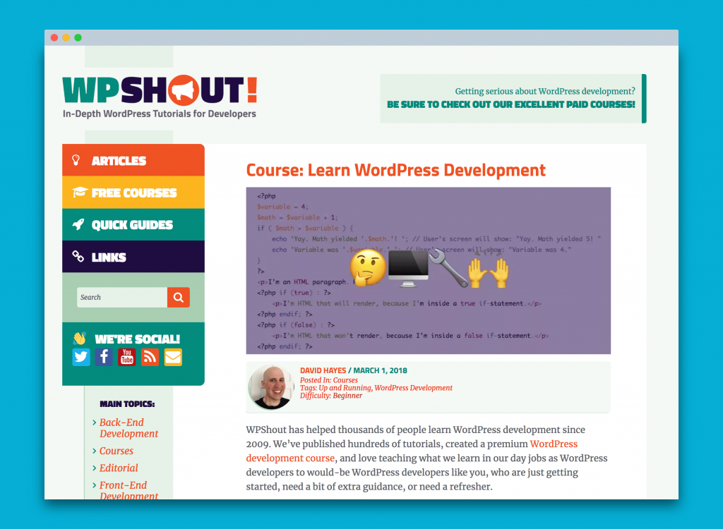 WPShout learn WordPress