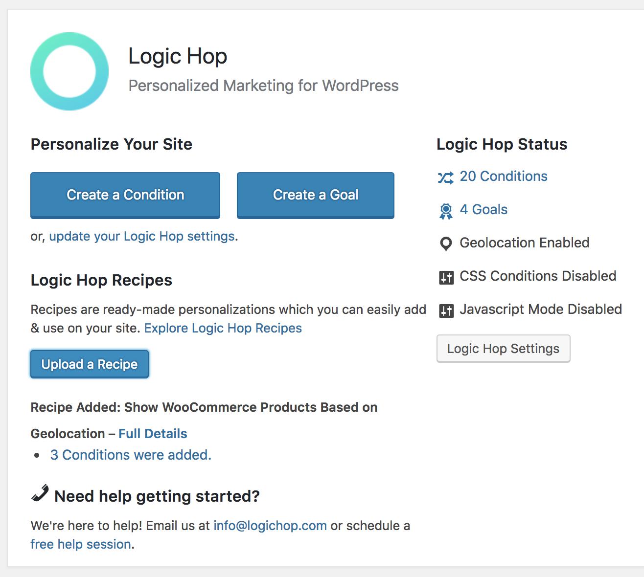 Adding a Logic Hop Recipe