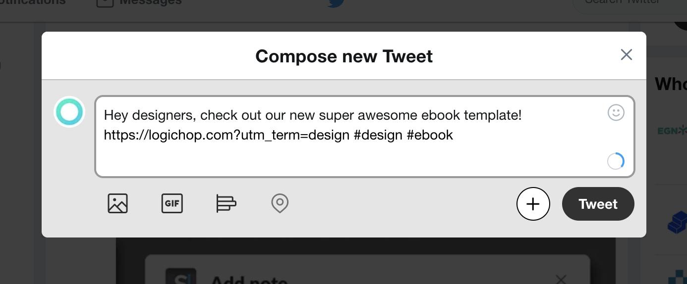 Tweet targeting designers